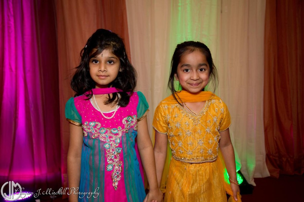 Indian girls dressed up for Diwali