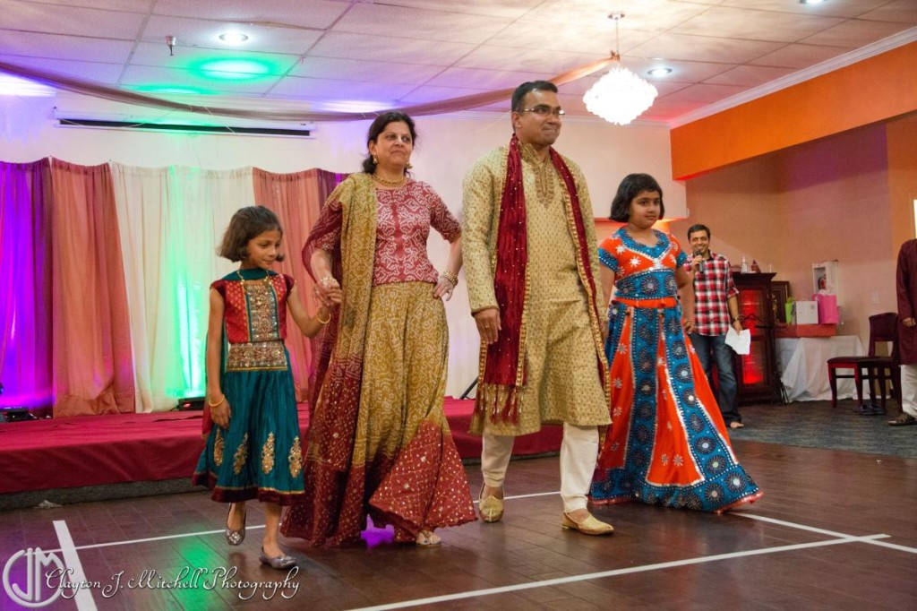 family Diwali celebration attire