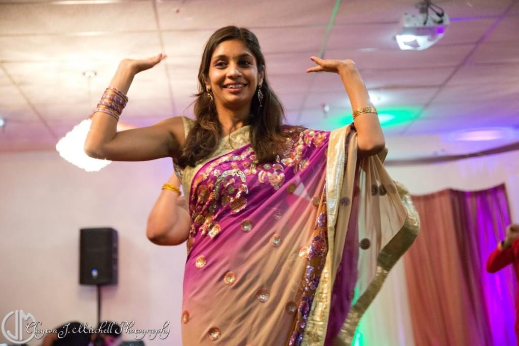 woman at Diwali party