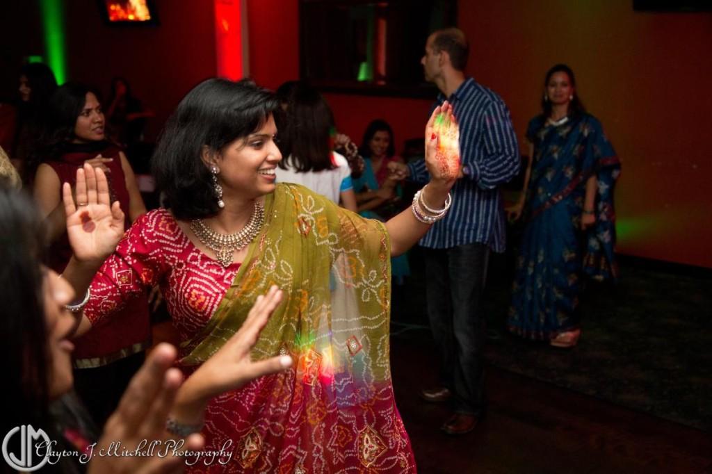 woman dancing at Diwali party