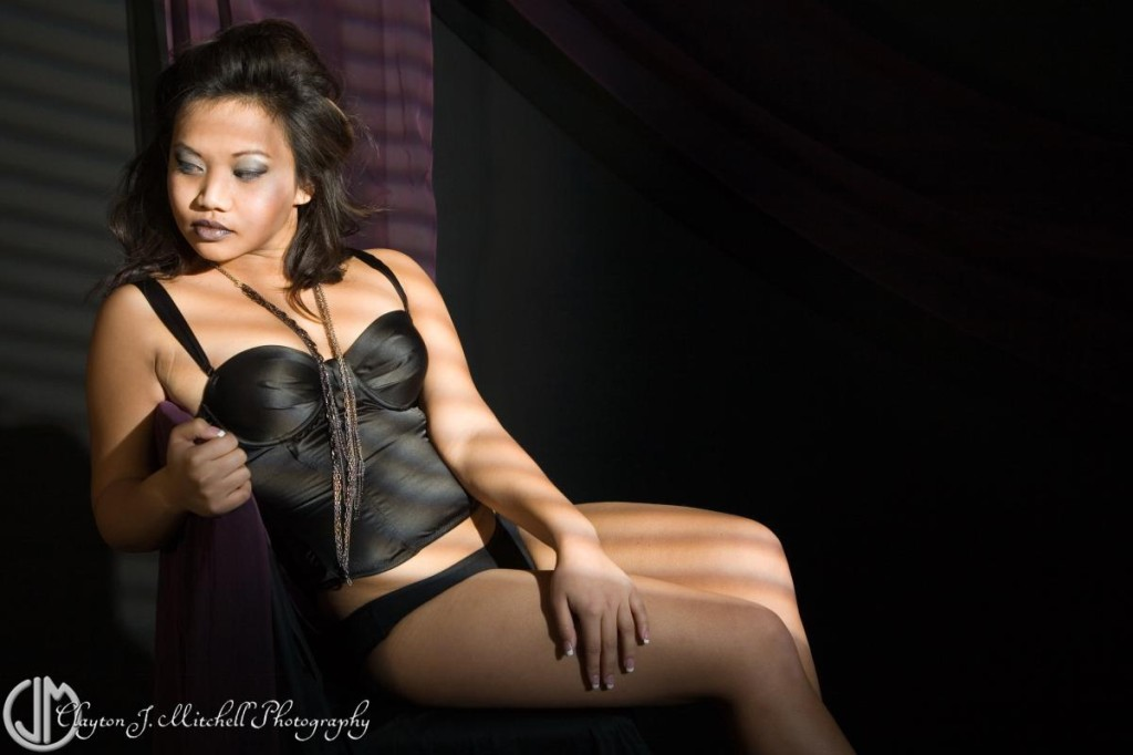 moody boudoir photograph