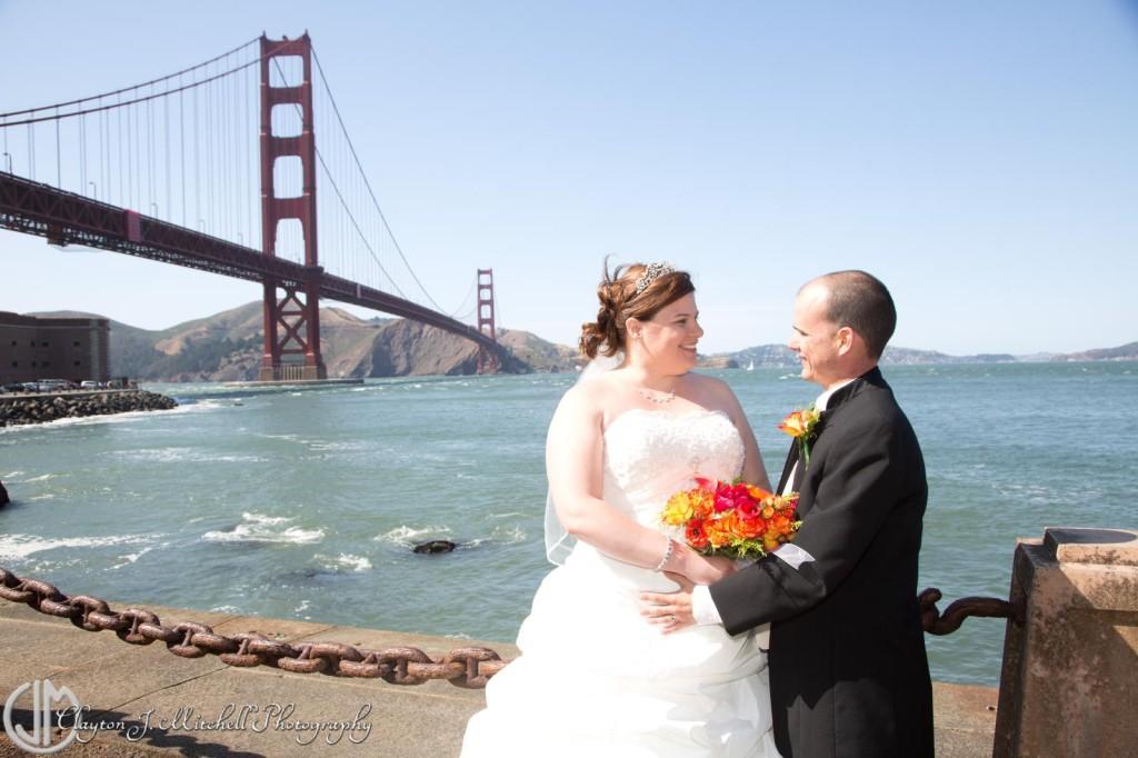San Francisco Golden Gate Bridge Wedding