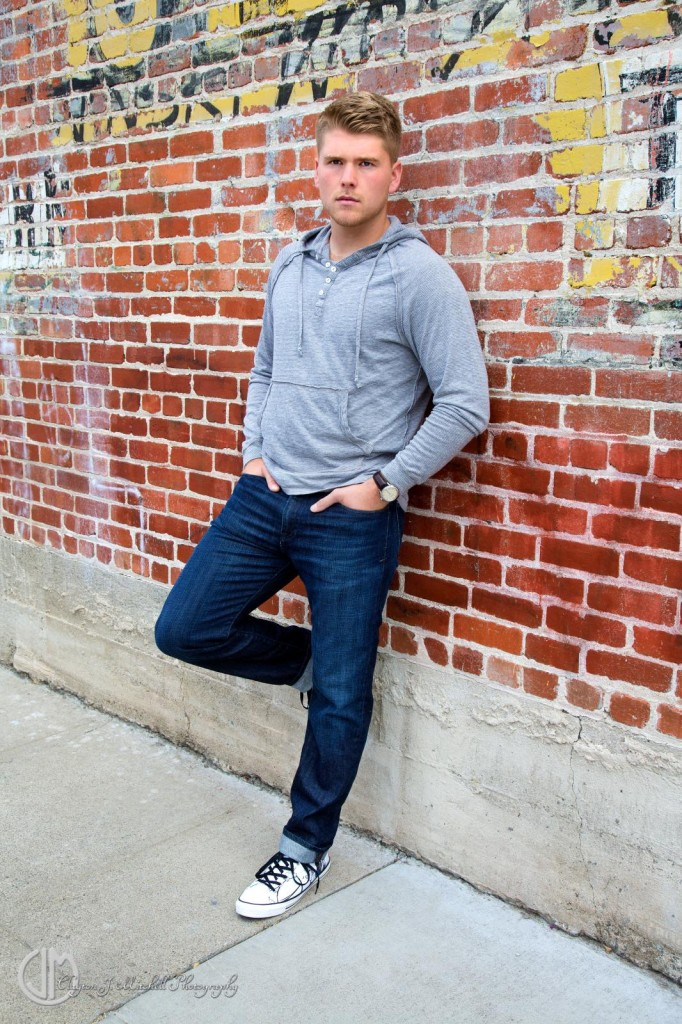 Male Model on Brick Wall