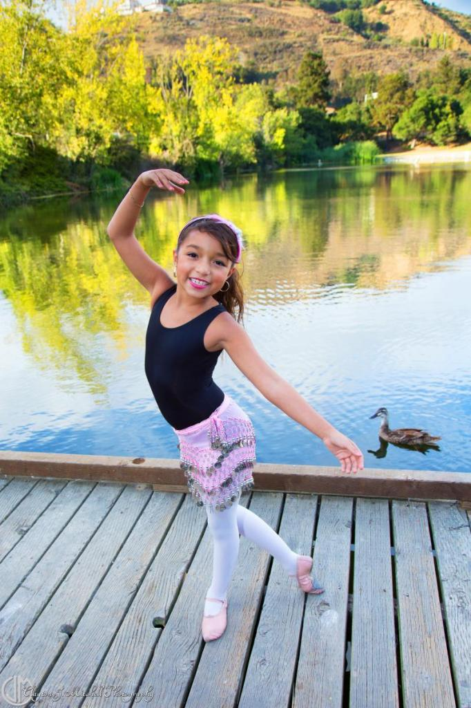 child ballerina in nature Lake Temescal Oakland
