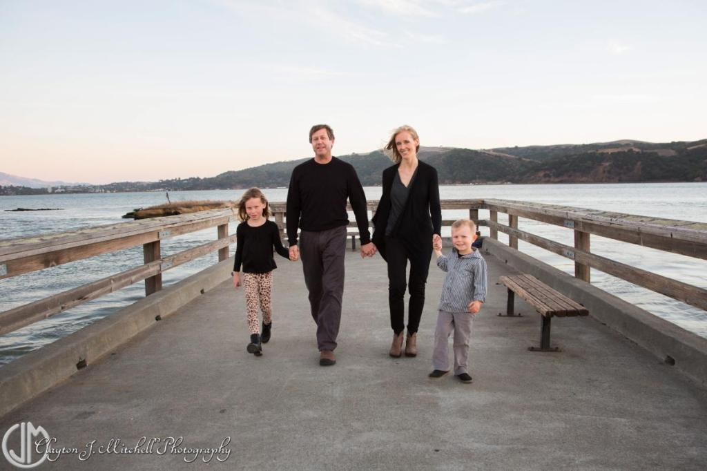 family portrait at the pier Benicia CA