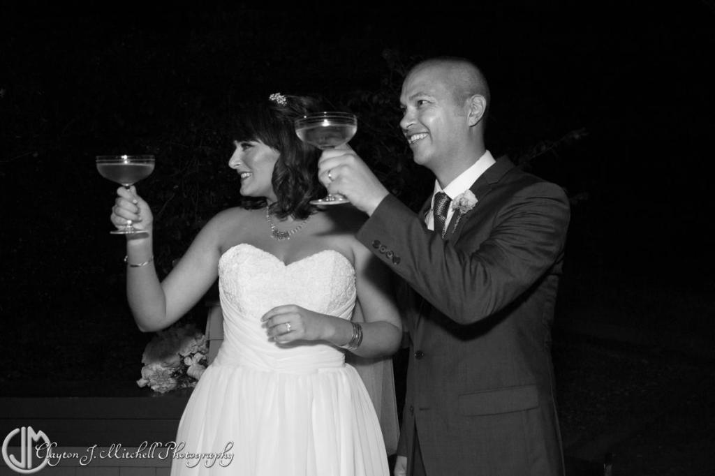 first toast as husband and wife