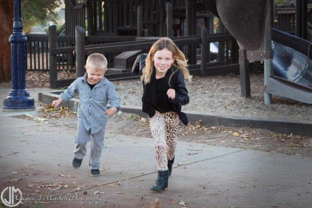 kids running at the playground