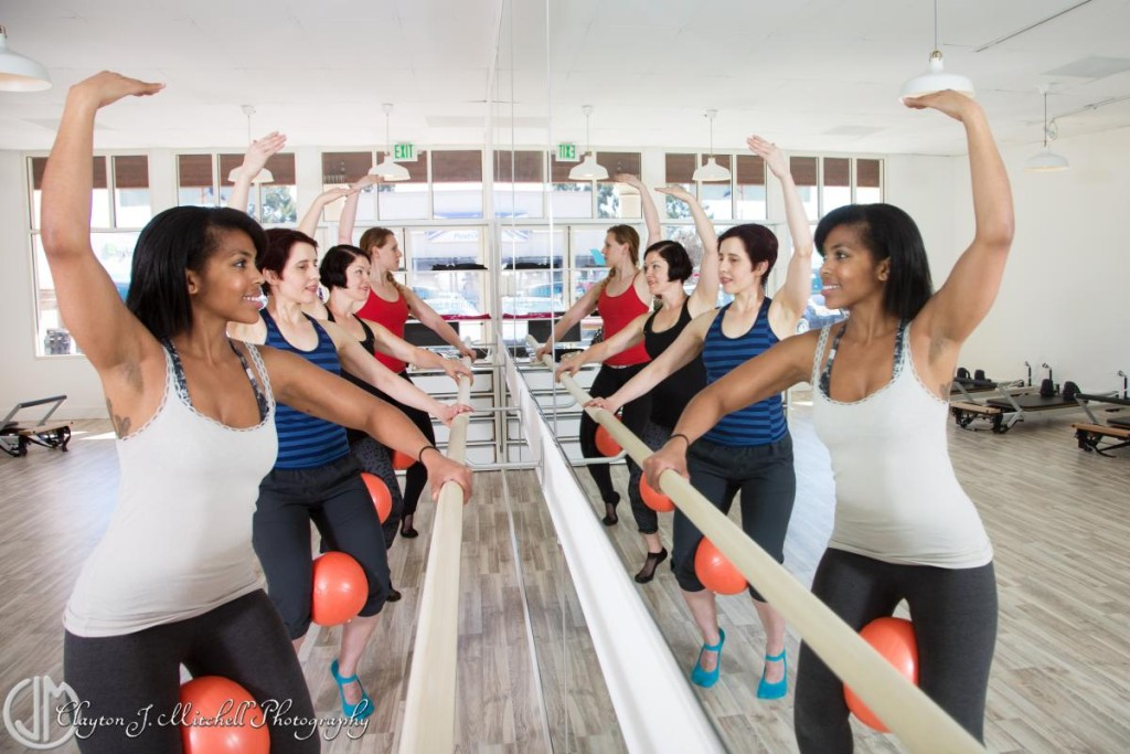 barre class at Blue Sparrow Pilates Oakland