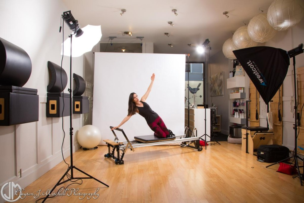 pilates photo shoot behind the scenes