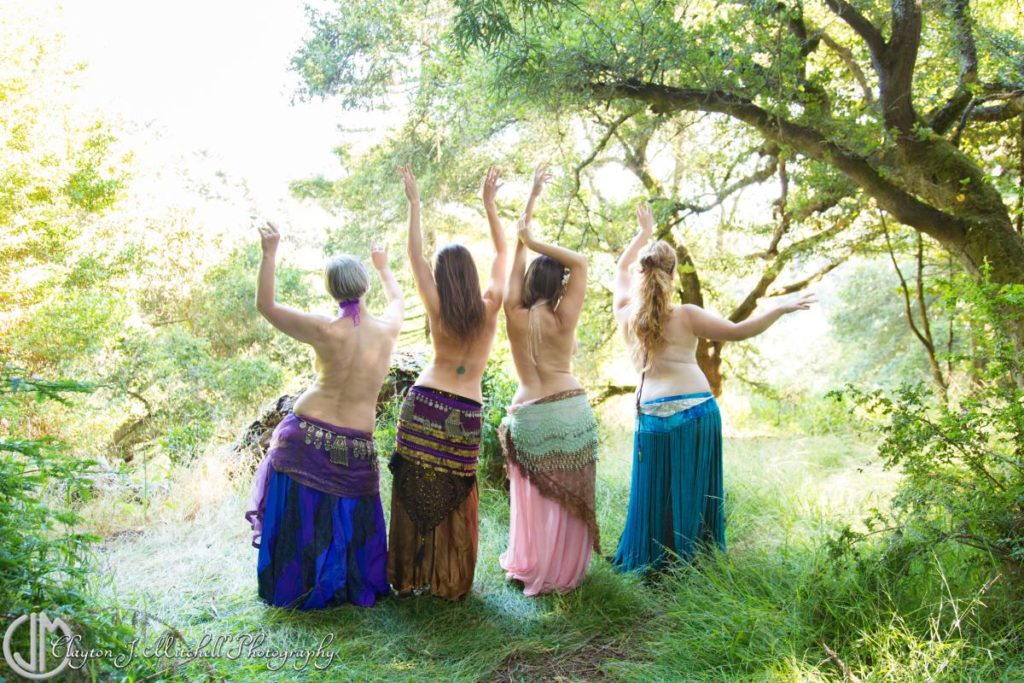 Modern Boho Styled Photo Shoot Four Women in the Forest