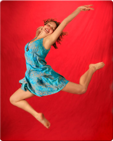 Portrait of a dancer leaping