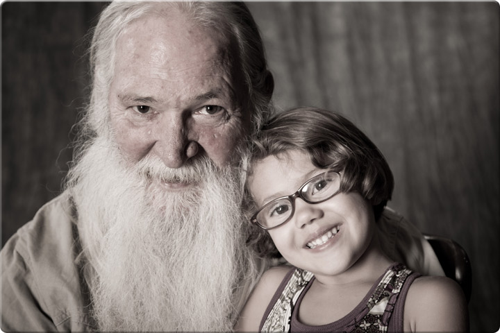 Granddaughter with her grandfather